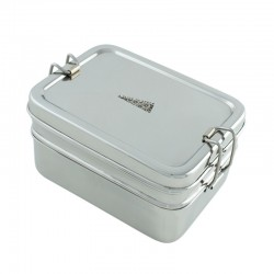 Edelstahl Lunchbox 3 in 1 - A Slice of Green